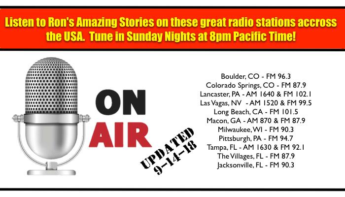 Ron's Amazing Stories On The Radio